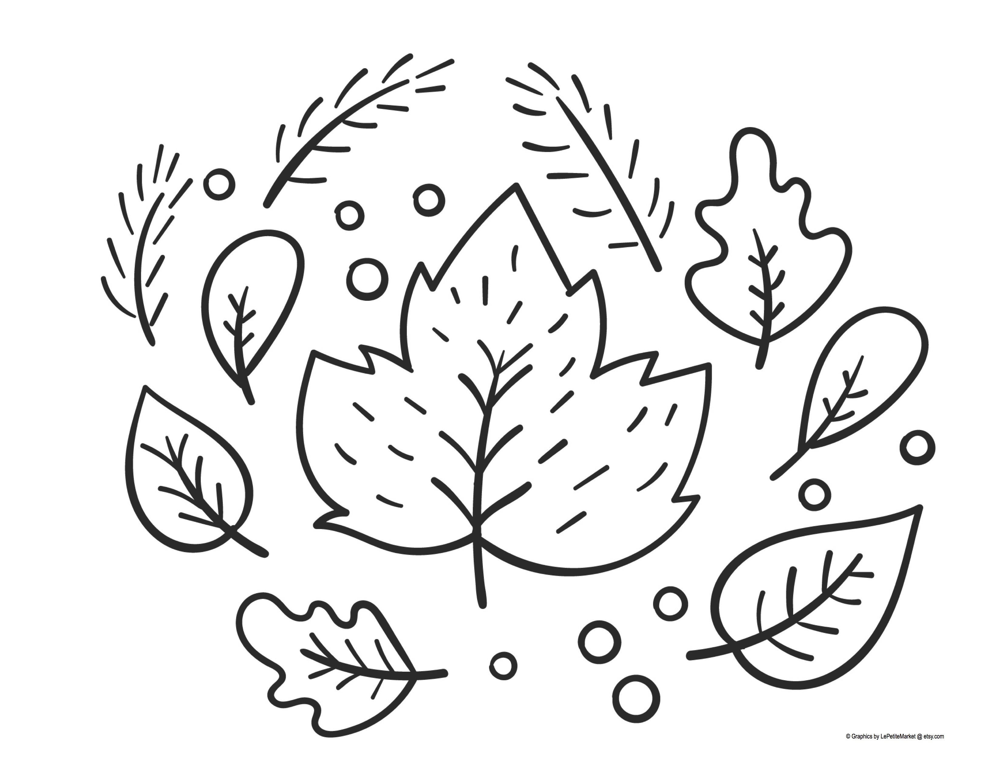 Coloring Page Fall Leaves The Idea Box Kids